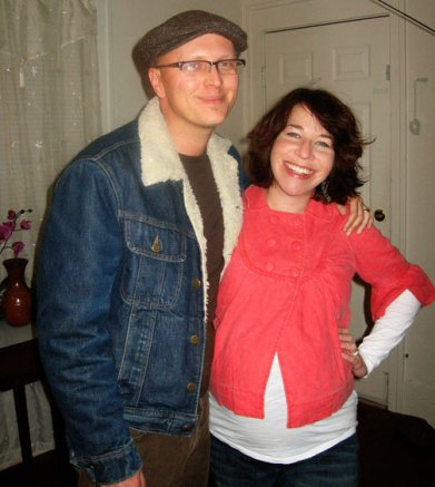 Peter and me, pictured together on Zoe's due date. We're on our way to see Dave Brubeck perform.