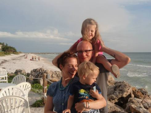 A family photo at Ana Maria Island.