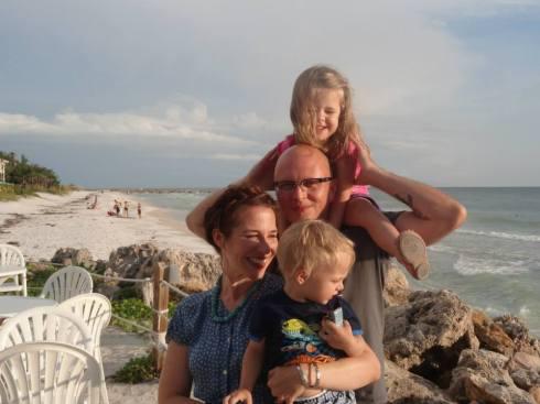 A family photo at Ana Maria Island.
