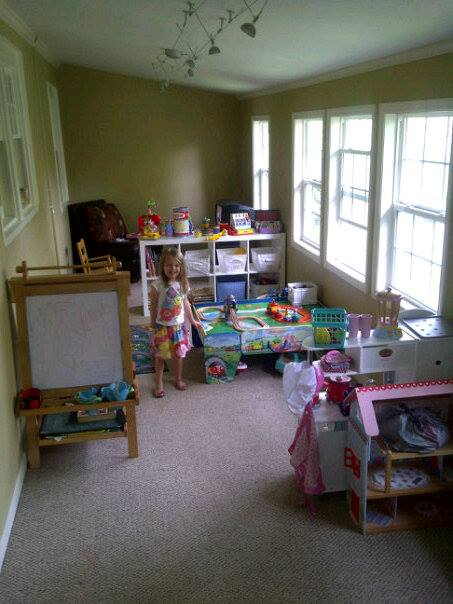 Look! Our little house has an official play room! Be still my heart!