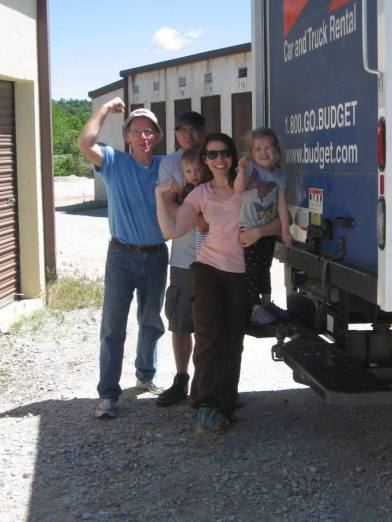 We kept all our things in storage until we knew where we would land. We just finished unloading the truck! (and yes, my kids came along. I never have childcare when I need it! Haha!)