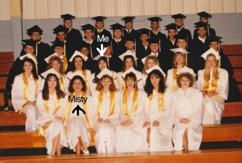 Our entire graduating class of 1995. All of us a pure and precious as the wind-driven snow.